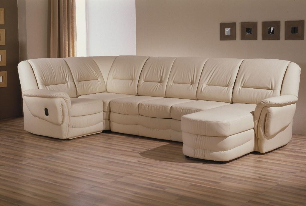 Большой кофейный диван