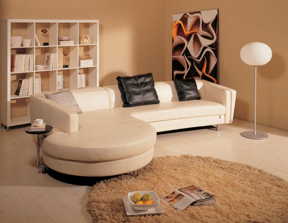 Mebel 84 Кожаный кофейный диван